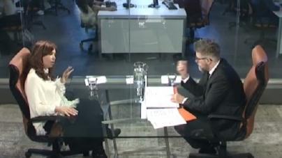 Novaresio entrevistò a CFK