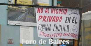 Un cartel en la Feria de Caminito