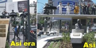 El monumento a Osvaldo Pugliese fue reconstruìdo