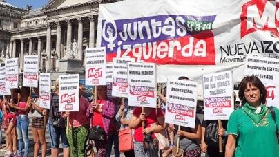 """Semaforeada feminista en Congreso hacia el 8M Ripoll: """"Vamos contra el ajuste y por nuestros derechos"""""""
