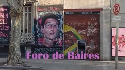 Un mural en Palermo recuerda al desaparecido Enzo Vallejos