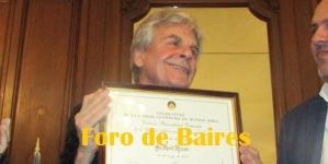 Raùl Rizzo fue nombrado Personalidad Destacada de la Cultura