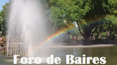 El Parque Centenario bajo un manto de Arco Iris