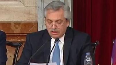 Alberto Fernández inició el 38 Período de las Sesiones ordinarias en el Congreso de la Nación