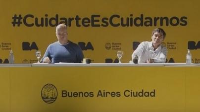 El Gabinete Porteño realizó una Conferencia de Prensa sobre la vacuna Antigripal