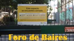 La Plazoleta Antonio Zinny permanece cerrada por cuarentena