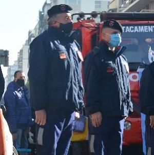 Rodríguez Larreta y Santilli encabezaron un homenaje a los bomberos caídos en servicio en Villa Crespo