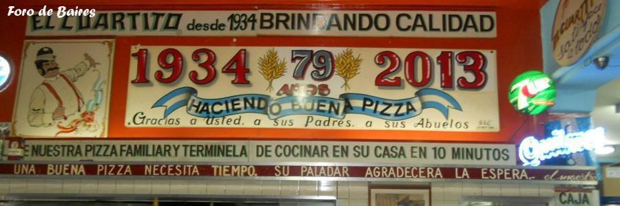 La Pizzería El Cuartito