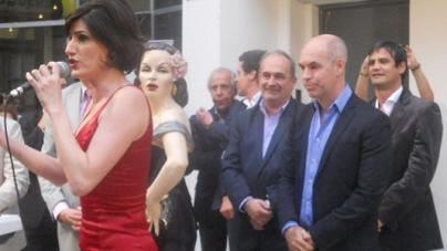 Tita Merello en el Pasaje Carlos Gardel