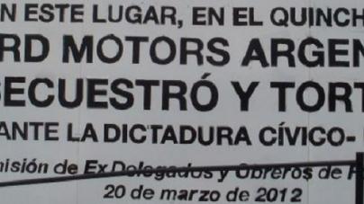 """Comenzó histórico juicio: """"Nos torturaron adentro de la fábrica de Ford"""""""
