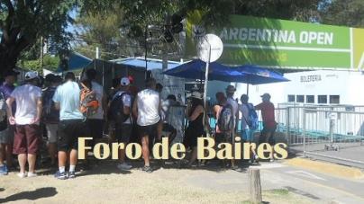 Comenzó el Argentina Open Tenis