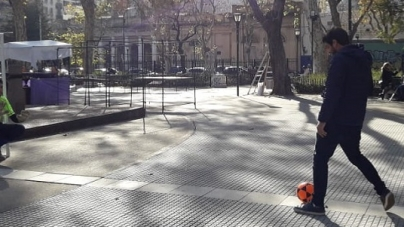 En el mes del mundial, CLIBA invitó a los vecinos a jugar para combatir los malos hábitos