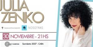 """Eventos: """"El almuerzo gris"""" y """"Nosotras"""" con Julia Zenko"""