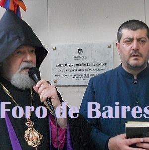 """Se descubriò una Placa en Conmemoración del 80° Aniversario de la """"Catedral San Gregorio El Iluminador"""" de la Colectividad Armenia"""