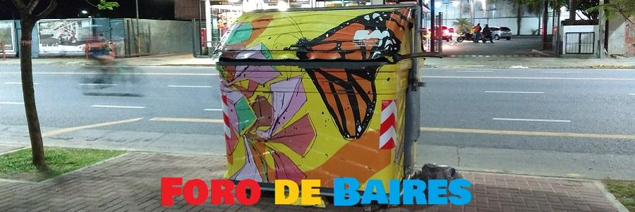 Los contenedores pintados en Parque Lezama
