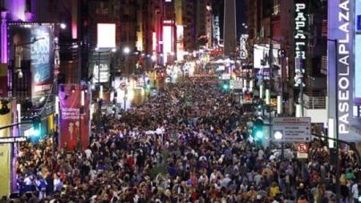 """Rodríguez Larreta en la reinauguración de la multitudinaria Calle Corrientes: """"Es el corazón de Buenos Aires"""""""