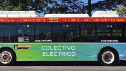 Ya circulan los primeros colectivos eléctricos en la Ciudad
