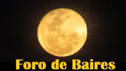 La Luna camuflada que apareció en la noche del Viernes