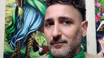 Damian Rucci, el artista plástico que pinta imágenes atrevidas