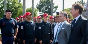 La Policía de la Ciudad celebró su tercer aniversario con un desfile en el Rosedal de Palermo