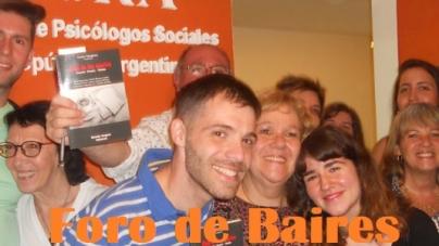 Se presentó en APSRA (Asociación de Psicólogos Sociales de la República Argentina) el libro titulado «Café de los Martes»