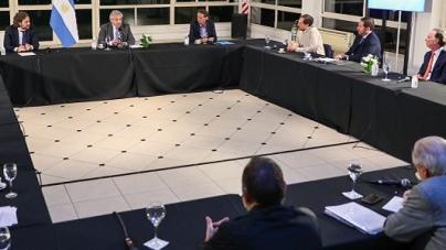 Coronavirus: el presidente Alberto Fernández se reunió con representantes del sector de la construcción